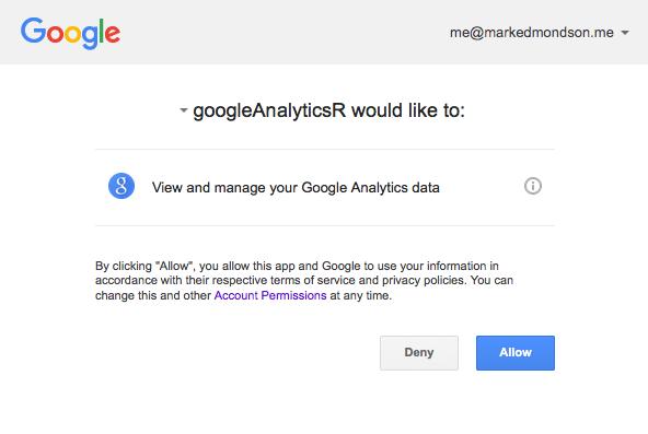 The Google Analytics API
